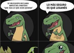 Enlace a T-Rex aprendió un nuevo chiste