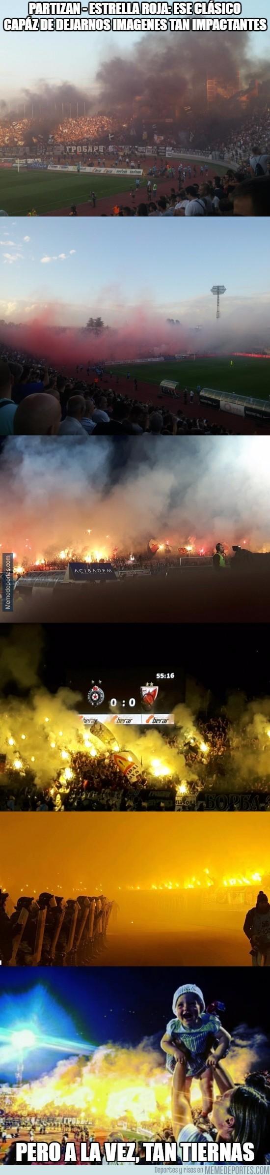 909265 - Las impactantes imágenes del Partizan - Estrella Roja