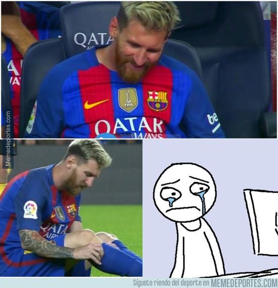 910165 - Messi sale con molestias, así están los culés ahora mismo