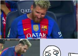 Enlace a Messi sale con molestias, así están los culés ahora mismo