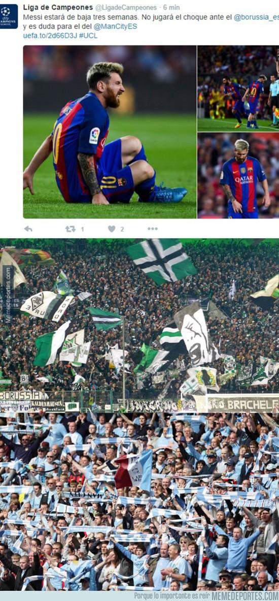 910277 - Messi estará baja 3 semanas por la lesión sufrida ayer