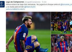 Enlace a Messi estará baja 3 semanas por la lesión sufrida ayer