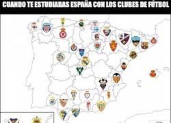 Enlace a Cuando te estudiabas España con los clubes de fútbol...