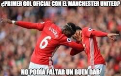 Enlace a ¿Primer gol oficial con el Manchester United?