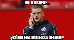 Enlace a Vardy recuerda ahora la oferta del Arsenal