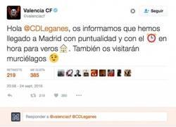 Enlace a El buen rollo entre Leganés y Valencia en twitter