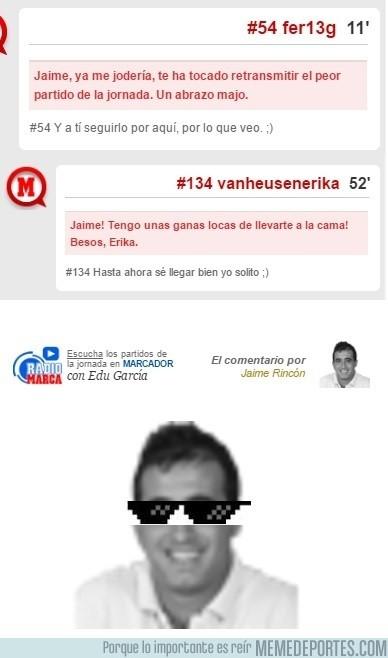 911523 - Se la saca Jaime Rincón en la retransmisión del Alavés-Granada