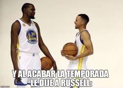 Enlace a Primera confesión de Durant a Stephen Curry