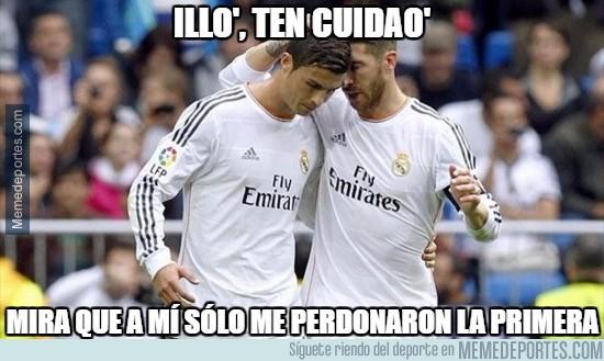 911698 - Tras la mano, Ramos aconseja a Cristiano