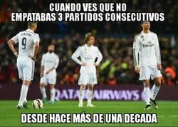 Enlace a Desde abril de 2006 el Madrid no empataba 3 partidos consecutivos