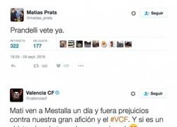Enlace a El ZASCA del Valencia a Matías Prats Jr. tras este tuit