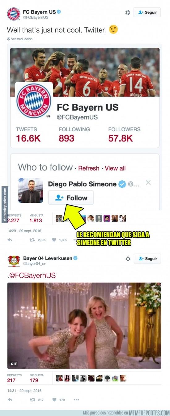 912426 - La cuenta oficial de Twitter se ríe del Bayern de Munich de forma descarada