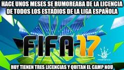 Enlace a Decepción en FIFA17