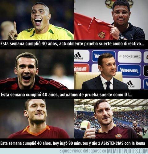 912609 - Esta comparación de leyendas deja a Totti en muy buen lugar