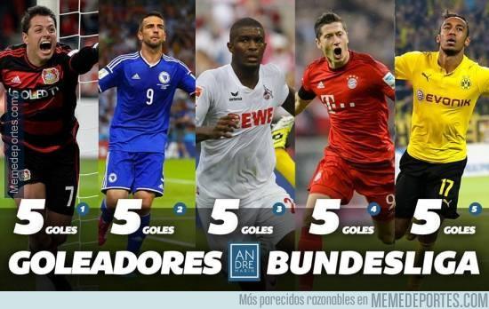 913145 - Reñida tabla de Goleadores en la Bundesliga al término de la jornada 6. ¿Por quién apuestas?