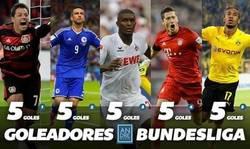 Enlace a Reñida tabla de Goleadores en la Bundesliga al término de la jornada 6. ¿Por quién apuestas?