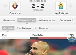 Enlace a Curioso dato del Osasuna - Las Palmas que gusta y mucho a Guardiola