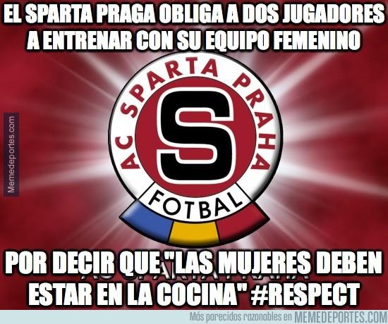 914014 - El Sparta Praga obliga a dos jugadores a entrenar con su equipo femenino