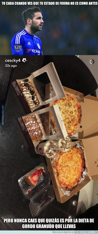 914103 - Cesc publica una foto de su dieta en Instagram y los fans del Chelsea enloquecen