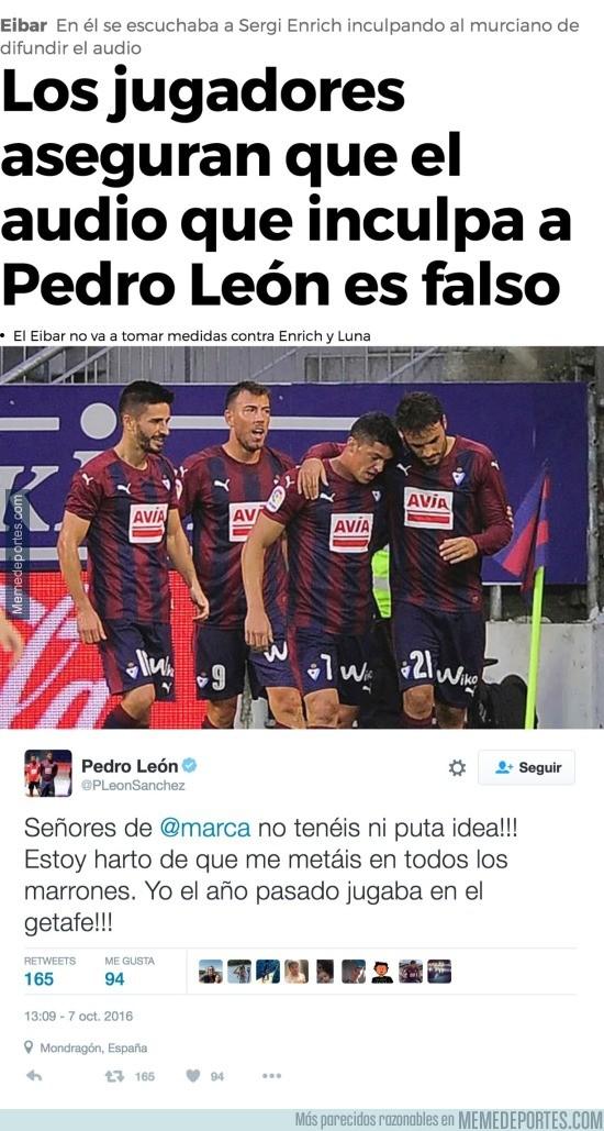 914547 - Marca la lía culpando a Pedro León del vídeo X de Sergi Enrich