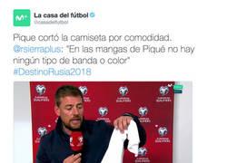 Enlace a La camiseta de Piqué no tenía ninguna bandera de España (fin del debate)