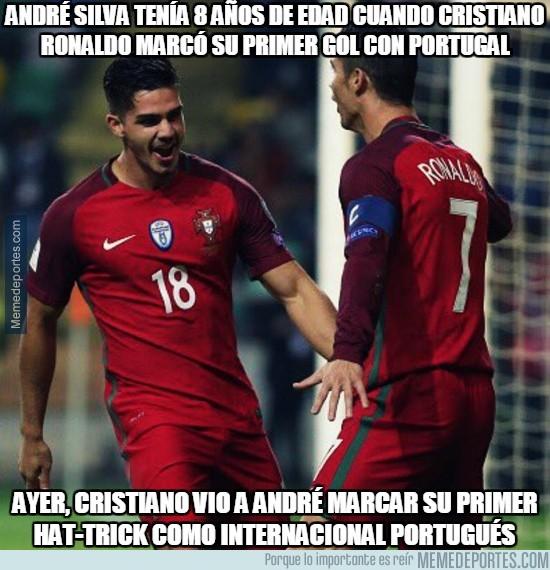 915451 - André Silva tenía 8 años de edad cuando Cristiano Ronaldo marcó su primer gol con portugal