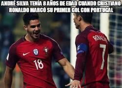 Enlace a André Silva tenía 8 años de edad cuando Cristiano Ronaldo marcó su primer gol con portugal