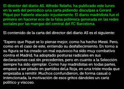 Enlace a El Diario AS se baja los pantalones y escribe esta carta de disculpa a Piqué