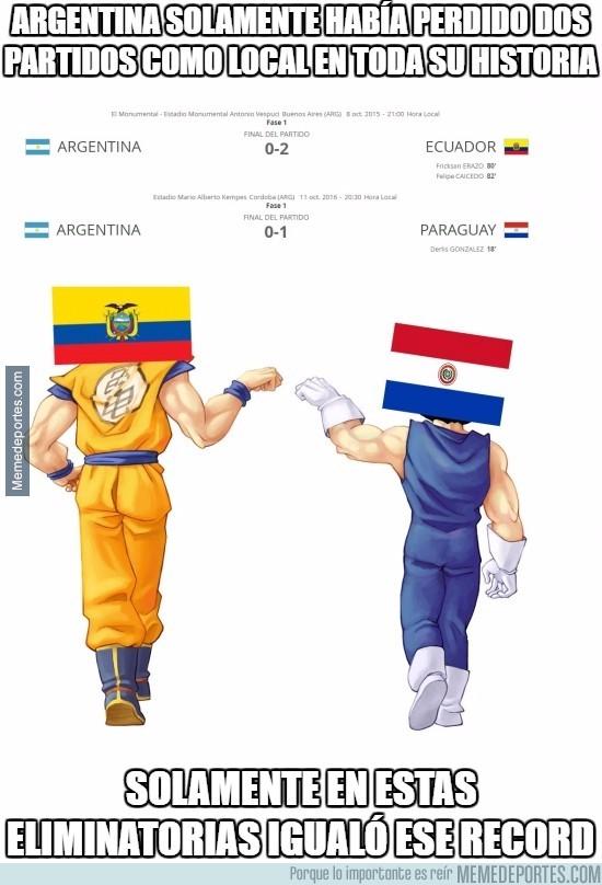 915618 - Argentina solamente había perdido dos partidos como local en toda su historia