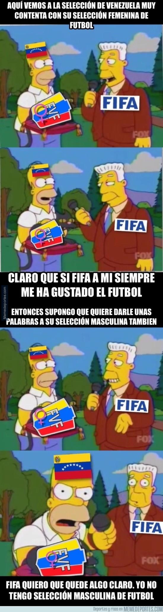 915937 - Venezuela NO tiene selección masculina de fútbol