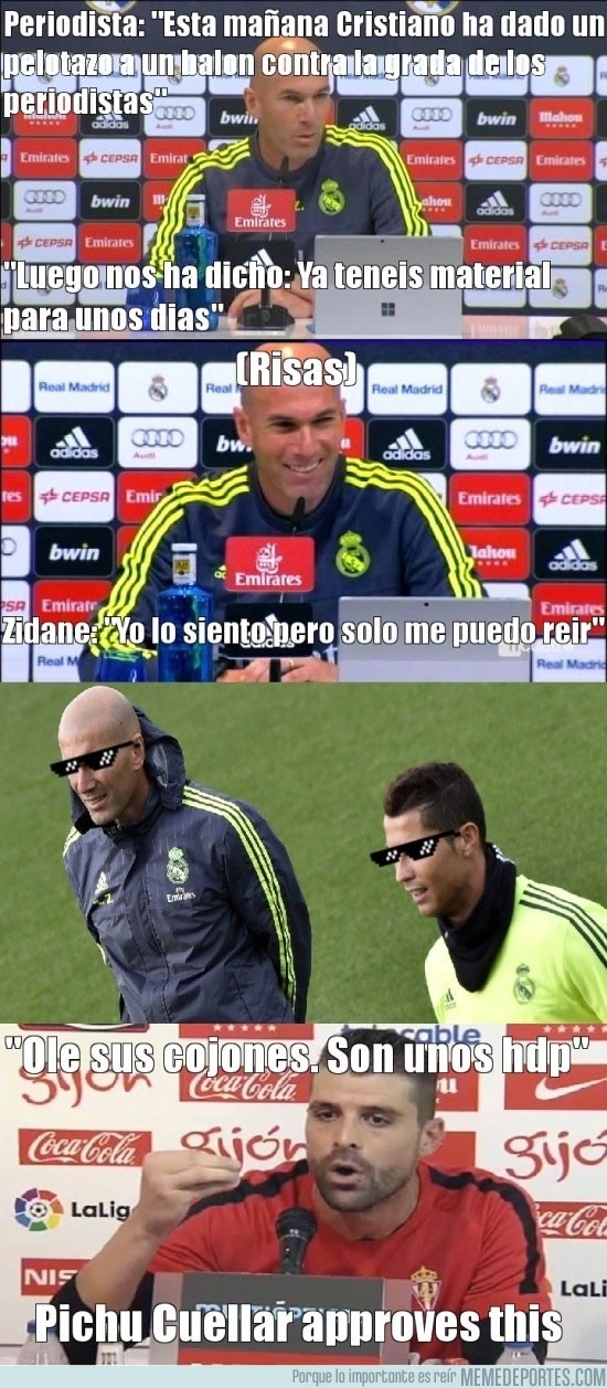 916186 - Zidane y Cristiano se rien de la prensa.