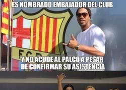 Enlace a Ronaldinho también está en contra de los horarios de Tebas
