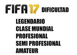 Enlace a Los niveles de dificultad en FIFA 17