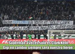Enlace a ¡ENORME pancarta de los aficionados de la Juventus para Buffon!