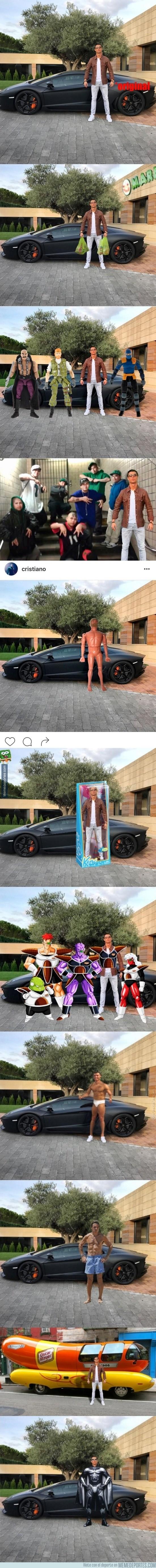 916936 - Esta foto de Cristiano Ronaldo posando con su coche ha desatado la locura en Internet