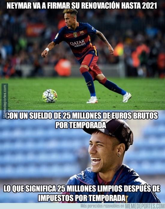 917052 - Las astronómicas cifras del nuevo sueldo de Neymar... tras impuestos