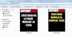 Enlace a Sport ya tenía listas las portadas por si acaso