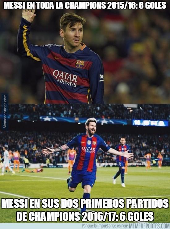 917809 - Un año completamente diferente de Messi