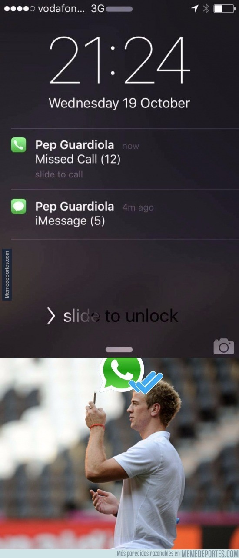 917864 - Guardiola llamando desesperadamente a un viejo amigo