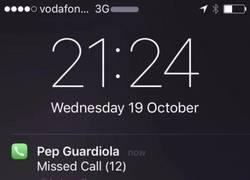 Enlace a Guardiola llamando desesperadamente a un viejo amigo