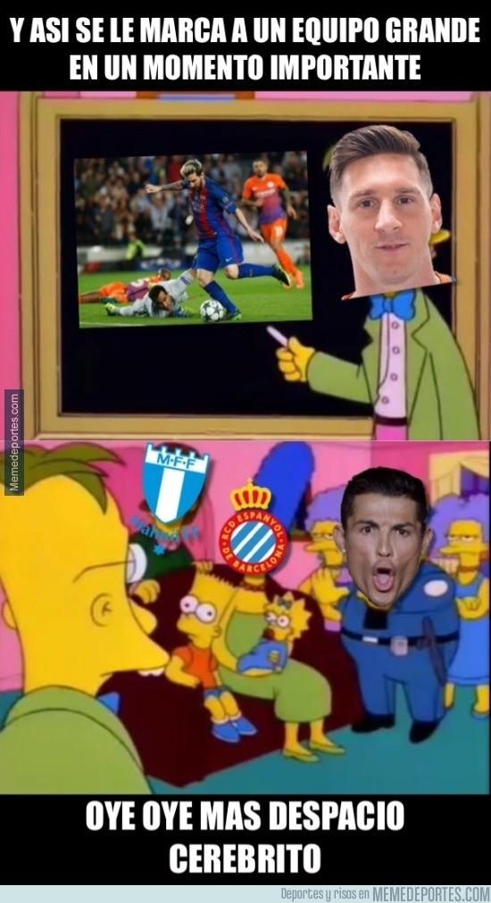 917996 - Messi explicando cómo marcarle a equipos grandes en momentos importantes