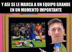Enlace a Messi explicando cómo marcarle a equipos grandes en momentos importantes