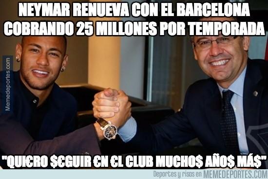 918207 - Neymar sigue por lo deportivo en el Barça
