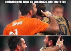 Enlace a Las palabras de Buffon para Donnaruma
