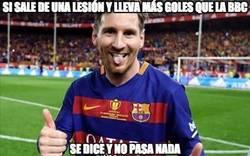 Enlace a El nivel de Messi tras la lesión