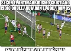 Enlace a Ctristiano también pidió que le anularan el gol a Ramos en la décima y la undécima