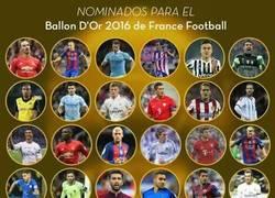 Enlace a ¡Lista completa! Los 30 futbolistas nominados al Balón de Oro 2016