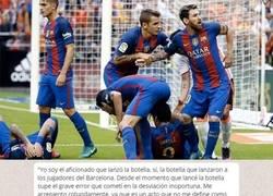 Enlace a El mensaje del menor que lanzó la botella a Neymar en Mestalla