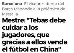 Enlace a El Barça responde a Tebas tras acusarlos de teatreros