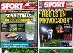 Enlace a La doble moral de Sport con estas dos portadas